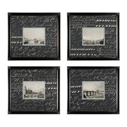 Sterling Industries - Decorative Wall Art, Bridges, Set Of 4 - Decorative Wall Art, Bridges, Set of 4
