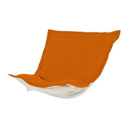 Howard Elliott Sterling Canyon Puff Chair Cushion - Extra Puff Cushions in Sterling are a great way to get a fresh new look without the expense of buying a whole new chair! Puff Cushions fit Scroll and Rocker frames. This Sterling cushion features a linen-like texture in a soothing orange color.