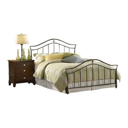 Hillsdale Furniture - Hillsdale Imperial Panel Bed - Full - A simple and sophisticated silhouette is the trademark feature of Hillsdale Furniture's Imperial bed. Classic spindles meet a graceful arched top rail, and frame a delicate shaped casting. Finished in a versatile twinkle black, and constructed of heavy gauge tubular steel, this bed is adaptable enough for any bedroom in your home. Minor assembly required.