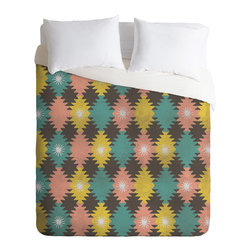 DENY Designs - Loni Harris Tribal Diamonds Duvet Cover - Turn your basic, boring down comforter into the super stylish focal point of your bedroom. Our Luxe Duvet is made from a heavy-weight luxurious woven polyester with a 50% cotton/50% polyester cream bottom. It also includes a hidden zipper with interior corner ties to secure your comforter. it's comfy, fade-resistant, and custom printed for each and every customer.