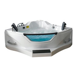 Ariel - Ariel BT-084 Whirlpool Bathtub - Feeling a little dirty? You and a partner will be dancing among the strong massage jets of this luxurious whirpool tub that features contoured seats with headrests, a 1.2 horsepower motor, a solid brass tub filler faucet, and a peekaboo window. Put this baby in a corner and cha-cha-change your bath routine.