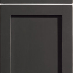 """Dura Supreme Cabinetry - Dura Supreme Cabinetry Homestead Panel Cabinet Door Style - Dura Supreme Cabinetry """"Homestead Panel"""" cabinet door style shown in Maple with  in Dura Supreme's """"Graphite"""" paint with Rub-Thru finish."""