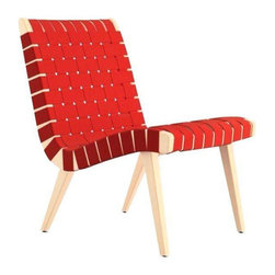 Red Knoll Risom Lounge Chair - Dimensions 20.0ʺW × 27.5ʺD × 30.25ʺH