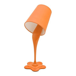 LUMISOURCE - Lumisource Woopsy Lamp, Orange - Woopsy! No worries, this unique paint bucket lamp gives the illusion of paint spilling. Express your personality with one of the fun and vibrant color options. Add this lamp to a kids room or even a fun office atmosphere for a whimsical appeal. Also seen on page 52.