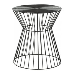 Safavieh - Adele Iron Wire Stool - The chic, clean lines of the Adele iron wire stool are crafted from iron and finished with sleek black epoxy for a soft modern look. Solid and sexy, this versatile stool is as welcoming to a wine glass as it is to your extra guests lacking a seat. Use this transitional piece as a sculptural accent in the living room, bedroom or den.