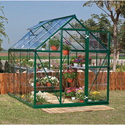 None - Palram Harmony 6x8 Greenhouse - Harmony 6x8 is a smart,beautiful & sturdy structure. It's corrosion resistant & durable powder coated aluminum frame and crystal clear virtually unbreakable polycarbonate panels are practically maintenance free.