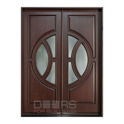 Modern Collection (Custom Solid Wood Doors) - Custom Front Entry Door -  Modern Collection - Doors For Builders Inc.