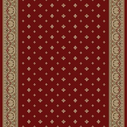 "Concord Global - Concord Global Ankara Pin Dot Red Transitional 2'2"" x 7'3"" Runner Rug (6300) - The Ankara collection is made of heavy heat-set olefin and has the look and feel of an authentic hand made rug at a fraction of the cost. New additions to the line include transitional patterns that are up to date in the current fashion trend. Made in Turkey"