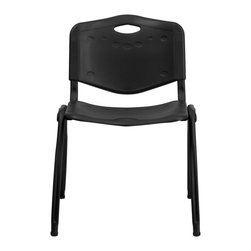 Flash Furniture - Flash Furniture Stack Chairs Plastic Stack Chairs X-GG-KB-10D-TUR - This stack chair offers a heavy duty frame with a lightweight design. This chair will make a great reception, meeting, office or classroom chair. [RUT-D01-BK-GG]