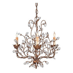 Currey & Company - Currey & Company Crystal Bud Small Chandelier CC-9883 - A small version of this popular free form arrangement of crystal buds is another option.