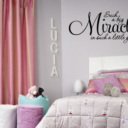 Such a Big Miracle Vinyl Wall Decal c032, White, 23 in. - Vinyl Wall Quotes are an awesome way to bring a room to life!