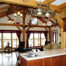 Craftsman Kitchen by Homestead Timber Frames