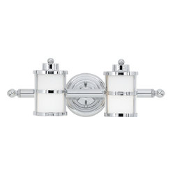 Quoizel - Quoizel TB8602C Tranquil Bay Transitional Wall Sconce - This gleaming bath light has a classic nautical design style. The banded circular lanterns, round knob accents and polished chrome finish combine with the opal etched glass to provide ample light and plenty of charm for your bathroom.