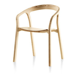 Mattiazzi - Mattiazzi She Said Chair - The creators of this chair designed it to look like something that should have been molded from plastic. But it's all solid wood — cut, bent and joined to create a sexy and sculptural seat that lets the natural wood shine through.