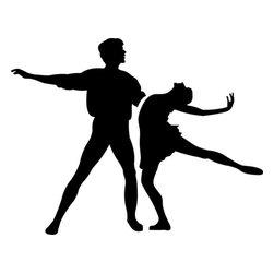 Stencil Ease - Ballet Partners Stencil - Ballet Partners Stencil - BASIC Stencils Collection