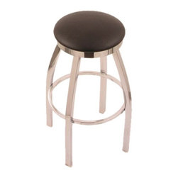 Holland - Holland 30 in. Cambridge Backless Bar Stool - Chrome Finish - Black Vinyl Seat - - Shop for Stools from Hayneedle.com! There's no better place to show off your taste than in the kitchen so let the Holland 30 in. Cambridge Backless Bar Stool - Chrome Finish - Black Vinyl Seat add a dash of modern style to your urban collection. Crafted with a relaxing swivel function and engineered without arms or a back this piece allows for generous spacious seating at standard bar heights and features a comfortable vinyl seat for long get-togethers. A solidly welded metal frame supports the stool for lasting use season after season. Please note: This item is not intended for commercial use. Warranty applies to residential use only.About Holland Bar StoolsWith over 25 years of experience in the commercial furniture industry Cambridge Stool Co. was founded on the principles of fine quality craftsmanship and service. As an industry leading manufacturer of upscale commercial quality barstools tables and chairs we use the finest high quality plating grade steel to produce this 30 (bar height) swivel stool to insure a high quality and long lasting finish. Seats are covered in a durable leather-like vinyl. This stool comes with a 5 year residential warranty that covers any defects in workmanship or materials. There is a Lifetime Warranty on the swivel. Stool Rated for up to 400 lbs. For cleaning use a damp cloth or Formula 409 cleaner. Do not use abrasive cleaners or strong solvents. Made in the USA.