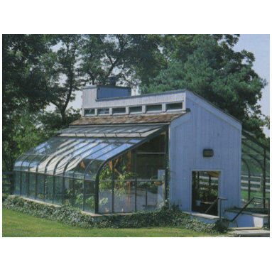 His greenhouse and her offfice -