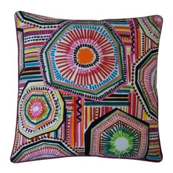 Jiti Native Pillow - Multi - Fun and funky the Jiti Native Pillow – Multi adds a splash of color to any setting. Its artistic design attracts the eye with an abstract pattern on a 100% cotton cover. A feather and down fill make it a soft and cozy addition to any chair sofa or bed. Dry clean only recommended. Pillow Dimensions: Rectangular pillow: 12 x 20 in. Square pillow: 20 x 20 in. About Jiti PillowsJiti has a wide range of bedding and accent pillow products so you're sure to find the perfect complement for your home decor in their line. The company is based in Los Angeles California and all of their products are proudly made in America. Using luminous colors rich patterns and varied textures Jiti creates products that can help you give your room an exotic makeover in minutes. Goga Bouquet Jiti's designer gets her inspiration from her Argentine heritage and her fascination with Indian culture. The result is beautiful exotic pieces that still have a modern feel.