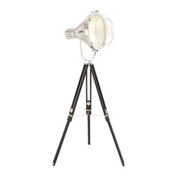 "ecWorld - Urban Designs 75"" Hollywood Studio Director's Spotlight Tripod Floor Lamp - Featuring a handcrafted adjustable spotlight style head that can be positioned to direct light right where you need it. Originally designed to illuminate the famous faces of film, this piece is a stunning addition to any room decor."