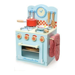 Le Toy Van Honeybake Oven & Hob Set - Your youngsters will adore the Le Toy Van Honeybake Oven & Hob Set which is constructed of painted wood and measures 11.81L x 13.58W x 19.29H inches. This play set has all the essentials including an oven with an easy-view window stovetop saucepan with lid control knobs utensils frying pan oven mitt and baking tray. Sure to invoke your kids in the spirit of pretend it even comes complete with a wooden 6-slice pizza pizza toppings egg and bacon.