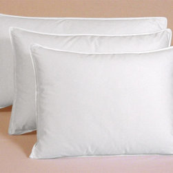 None - Egyptian Cotton 375 Thread Count Siberian White Down Pillow - This comfortable Siberian white down pillow has a 375 thread count and is going to be very comfortable. The Egyptian cotton pillow has soft/medium firmness and could be an ideal pillow to add to your bedroom. Features a machine-washable cover.
