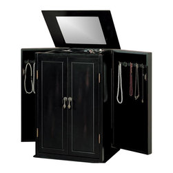 Coaster - Coaster 5-Drawer Jewelry Armoire in Black - Coaster - Jewelry Armoires - 900095 - Store all your jewelry with this clean, stylish black jewelry armoire. This elegant armoire features specially designed storage spaces for rings, necklaces and more. The classic lines of this accent piece and its inherent sophistication will ensure a lasting appeal.