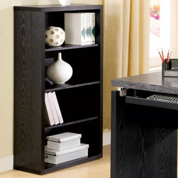 Coaster - Clark Bookcase, Black - Clean lines and functionality describe this home office group. The desk features a keyboard tray and pairs perfectly with the matching computer stand, bookcase or mobile file cabinet.