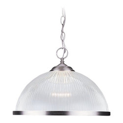 Sea Gull Lighting - Sea Gull Lighting Polished Brass Transitional Pendant Light X-269-1466 - A classic, modern Transitional Pendant Light by Seal Gull Lighting. It fits wonderfully in any modern or contemporary kitchen style and will be a nice eye-catcher at the dining table. The shade is made out of clear Acrylic Dome with a nice chrome finish.