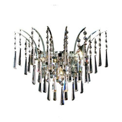 Elegant - Victoria Chrome Royal Cut Wall Sconce Chandelier - The Victoria Collection provides a display of brilliant color.  This vibrant series features multi-layers of crystals throughout its body, adding decorative design to a room.