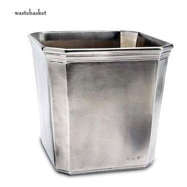 Dolomiti Wastebasket - I just love the patina of pewter, it adds instant depth to any  room.
