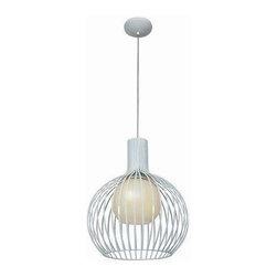 Access Lighting - Access Lighting 23435-WH/OPL Chuki Modern Pendant Light - White - Access Lighting 23435-WH/OPL Chuki Modern Pendant Light In White