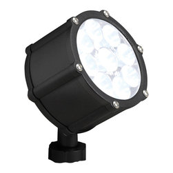 Kichler Accent LED - Textured Black - Accent LED. The textured black finish and coordinating clear tempered glass lens give this lighting outdoor LED accent light a clean look that will easily blend into the background for perfectly concealed but dramatic lighting.