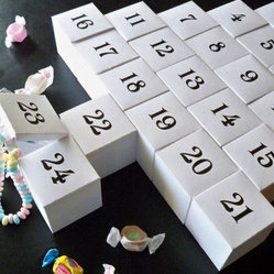DIY Advent Calendar by A Million Ideas