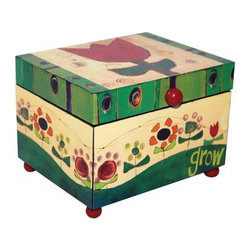 "Westland - 5 Inch ""Grow"" Flower Garden Music Box with Handle, Multicolored - This gorgeous 5 Inch ""Grow"" Flower Garden Music Box with Handle, Multicolored has the finest details and highest quality you will find anywhere!"