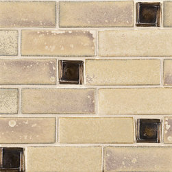 Symmetry Ceramic Art Tile - Ann Sacks Tile & Stone - I love this traditional stoneware tile with a modern edge. Would work great in an arts and crafts style kitchen for someone looking for a updated look.