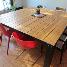 modern dining tables by L2P Design