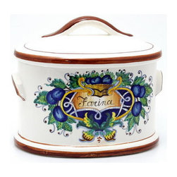 Artistica - Hand Made in Italy - Firenzuola: Oval Canister 'Farina' (Flour) (Sm.) - Firenzuola: