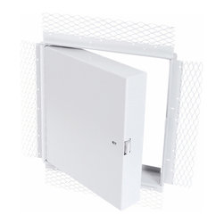 "Best Access Doors - Fire Rated Insulated Access Door with Plaster Flange, High Quality White Powder - 12"" x 12"" - Fire Rated Insulated Access Door with Plaster Flange. BA-PFI-PLY is the ideal solution for plaster covered fire rated walls and ceilings. Once covered with plaster, the 2 3/4"" lath flange will disappear leaving only the door panel visible. As per UL standards, once the installation is complete and the provided springs are hooked to the back of the panel, this access door will be self closing and self locking. The largest fire rated PFI-PLY access doors available for vertical and horizontal installations are respectively: (48"" x 48"" ) and (24"" x 36"" or 864 sq inches).BA-PFI-PLY fire rated access door specifications, Submittal Sheet -"