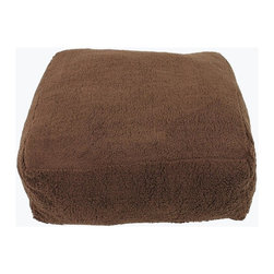 Carolina Pet Company - Chocolate Cloud Pouf, Chocolate, 30 X 30 X 10 - Like resting in a cloud!  The ultimate in comfort and design makes this combination of a floor pillow and cube the perfect resting spot for your pet.  A great accessory in any room or d_cor.  Our rich soft cloud Sherpa fabric wraps your pet in comfort and support.  Zippered removable cover for easy machine washing. Filled with our high loft recycled Polyester fill.
