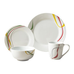 Tabletops Unlimited - 16 Piece Jackson Dinnerware Set - Dishwasher Safe.  Microwave Safe.  Oven Safe up to 400 °F. Material: Porcelain . (4) 10.5 in. Dinner. (4) 7.5 in. Salad. (4) 5 in. Cereal. (4) 12oz MugJackson is strong enough for everyday use, yet fashionable enough for casual dining and entertaining. Classic round bodies showcase fresh contemporary design for a touch of class that complements any table setting and presents beautifully.