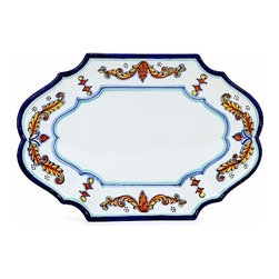 Artistica - Hand Made in Italy - Principe: Scalloped Oval Platter - Principe Collection: Classico Dinnerware