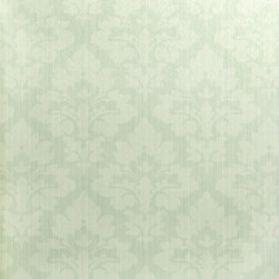 Wallpaper Worldwide - New Style - Damask Wallpaper, Green, Pastels - Material: Paper Backed. PVC.