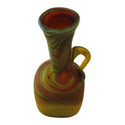 Mohavy - Professional Handmade Beautiful Unique Blown Glass Vase Handcrafted Style 3 in, - Artisans craft designs inspired from Ancient Phoenician epoch