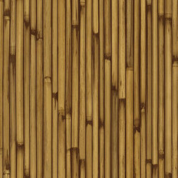 Warner - Nl58113 Bamboo Family Faux Stripe Wallpaper - NL58113 Bamboo Family from Natural Living by Kathy Ireland is a brown and gold bamboo stalk wallpaper.