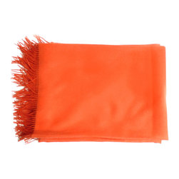 Linen Way orange baby alpaca throw - Linen Way is a family-owned business based out of Ontario. Their eco-friendly home textiles are made entirely from sustainable, renewable and recyclable fibers.