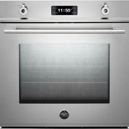 "Bertazzoni F30PROXT Professional Series 30"" Single Wall Oven - 30"" Single Electric Wall Oven with 4.1 cu. ft. Dual Fan Convection Oven, Pyrolytic Self Clean, 4 Heating Elements and Combo Control Interface - See more at: http://www.plessers.com/Bertazzoni/f30proxt.htm"