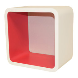 Welland - Cosmos Wall Cube Display Shelves, Red - Add a colorful pop to your room with this functional wall cube. Whether you're storing toiletries in the bathroom, supplies in your office, books in your bedroom or collectibles in the living room, this shelf is a fun addition to any space.
