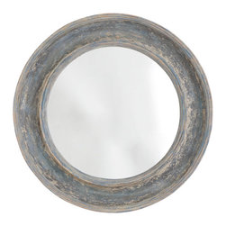 Round Seaside Mirror - This distressed round mirror looks a vintage score with its layers of paint. But it's actually made of resin (which makes it light and easy to hang!).