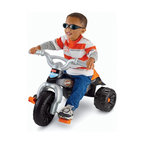 Fisher-Price - Fisher-Price Harley Tough Trike Big Wheel Riding Toy - W1778 - Shop for Tricycles and Riding Toys from Hayneedle.com! The youngest Harley fans are going to love the Fisher-Price Harley Tough Trike. This tricycle features a wide stable wheel base easy-to-grip handlebars and large foot pedals for easy maneuvering and steering. The large tires and rugged treads make this toy easy to ride both indoors and out.