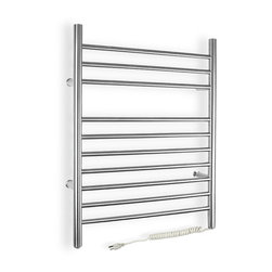Warmly Yours - WarmlyYours Towel Warmer Infinity Plug-in - The WarmlyYours Infinity electric towel warmer is manufactured from stainless steel with a beautifully brushed finish and has 10 sleek bars to hang towels or a bathrobe. The plug-in model comes with a 6' long cord and plugs into a standard 120V outlet. of your home  bathroom, laundry room, or even in a dorm room.